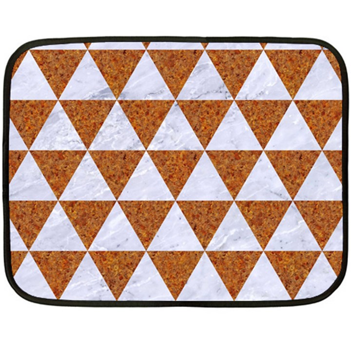 TRIANGLE3 WHITE MARBLE & RUSTED METAL Double Sided Fleece Blanket (Mini)