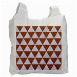 TRIANGLE3 WHITE MARBLE & RUSTED METAL Recycle Bag (Two Side)  Front