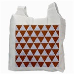 TRIANGLE3 WHITE MARBLE & RUSTED METAL Recycle Bag (Two Side)  Back