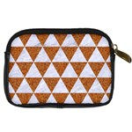 TRIANGLE3 WHITE MARBLE & RUSTED METAL Digital Camera Cases Back
