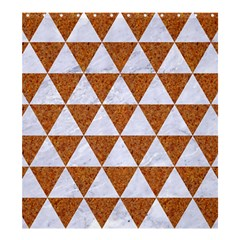 Triangle3 White Marble & Rusted Metal Shower Curtain 66  X 72  (large)