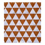 TRIANGLE3 WHITE MARBLE & RUSTED METAL Shower Curtain 66  x 72  (Large)  58.75 x64.8 Curtain