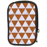 TRIANGLE3 WHITE MARBLE & RUSTED METAL Compact Camera Cases Front