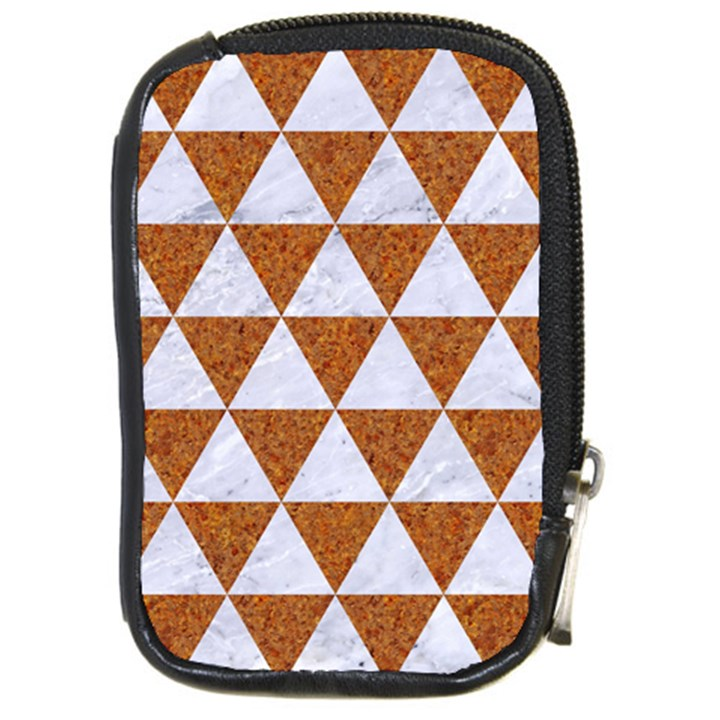 TRIANGLE3 WHITE MARBLE & RUSTED METAL Compact Camera Cases