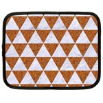 TRIANGLE3 WHITE MARBLE & RUSTED METAL Netbook Case (XL)  Front