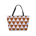 TRIANGLE3 WHITE MARBLE & RUSTED METAL Shoulder Handbags Back