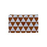 TRIANGLE3 WHITE MARBLE & RUSTED METAL Cosmetic Bag (Small)  Front