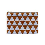 TRIANGLE3 WHITE MARBLE & RUSTED METAL Cosmetic Bag (Medium)  Front