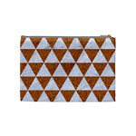 TRIANGLE3 WHITE MARBLE & RUSTED METAL Cosmetic Bag (Medium)  Back