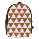 TRIANGLE3 WHITE MARBLE & RUSTED METAL School Bag (Large) Front