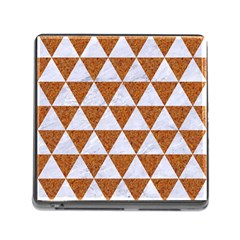Triangle3 White Marble & Rusted Metal Memory Card Reader (square)