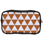 TRIANGLE3 WHITE MARBLE & RUSTED METAL Toiletries Bags Front