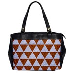 TRIANGLE3 WHITE MARBLE & RUSTED METAL Office Handbags Front