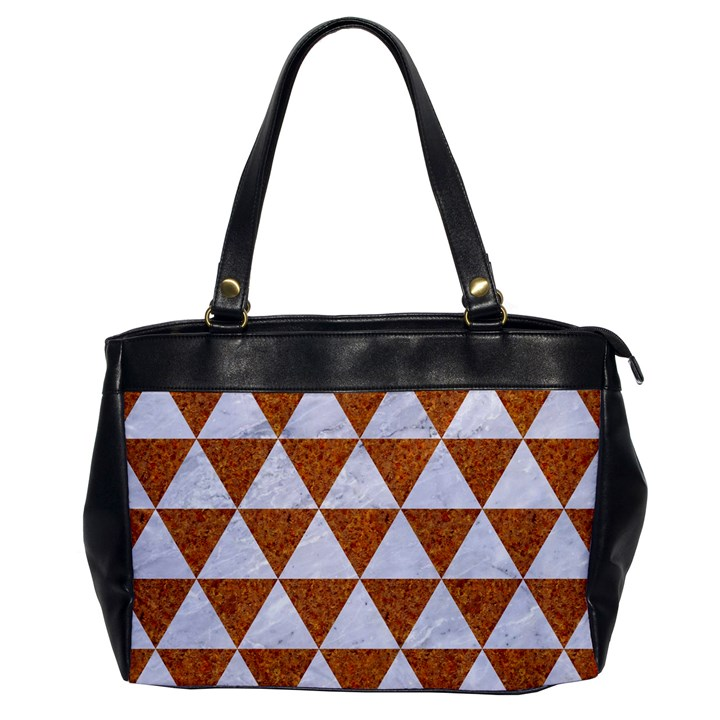 TRIANGLE3 WHITE MARBLE & RUSTED METAL Office Handbags