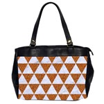 TRIANGLE3 WHITE MARBLE & RUSTED METAL Office Handbags (2 Sides)  Front