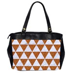 TRIANGLE3 WHITE MARBLE & RUSTED METAL Office Handbags (2 Sides)  Back