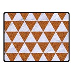 TRIANGLE3 WHITE MARBLE & RUSTED METAL Fleece Blanket (Small) 50 x40 Blanket Front