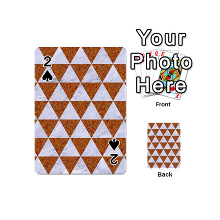 TRIANGLE3 WHITE MARBLE & RUSTED METAL Playing Cards 54 (Mini)