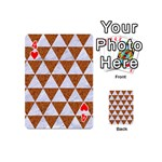 TRIANGLE3 WHITE MARBLE & RUSTED METAL Playing Cards 54 (Mini)  Front - Heart4