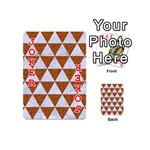 TRIANGLE3 WHITE MARBLE & RUSTED METAL Playing Cards 54 (Mini)  Front - Joker2