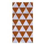 TRIANGLE3 WHITE MARBLE & RUSTED METAL Shower Curtain 36  x 72  (Stall)  33.26 x66.24 Curtain