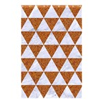 TRIANGLE3 WHITE MARBLE & RUSTED METAL Shower Curtain 48  x 72  (Small)  42.18 x64.8 Curtain