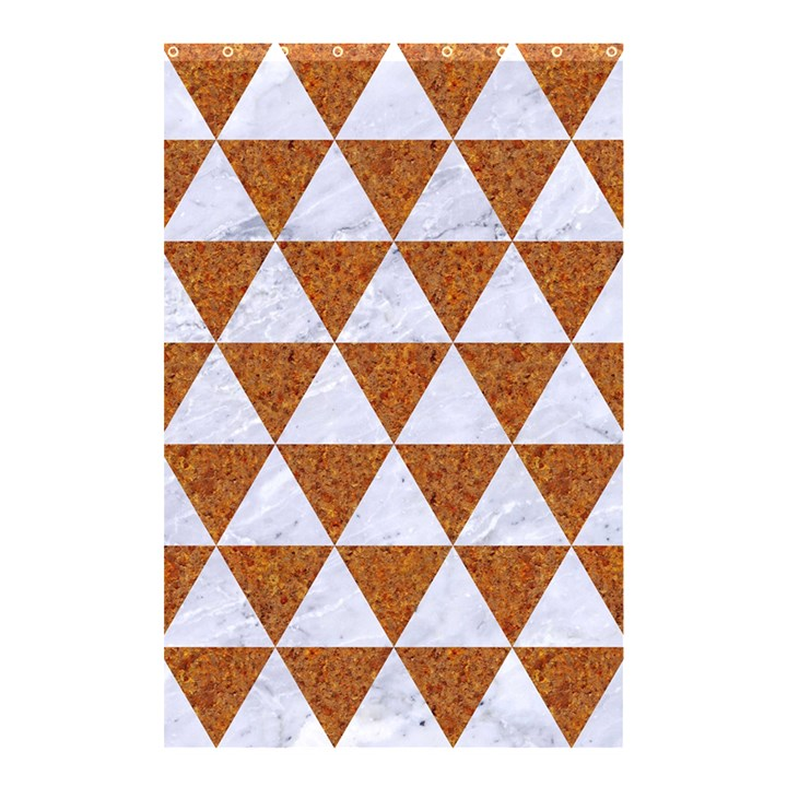 TRIANGLE3 WHITE MARBLE & RUSTED METAL Shower Curtain 48  x 72  (Small)