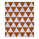 TRIANGLE3 WHITE MARBLE & RUSTED METAL Shower Curtain 60  x 72  (Medium)  54.25 x65.71 Curtain