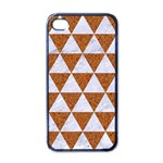 TRIANGLE3 WHITE MARBLE & RUSTED METAL Apple iPhone 4 Case (Black) Front