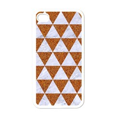 Triangle3 White Marble & Rusted Metal Apple Iphone 4 Case (white)