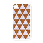TRIANGLE3 WHITE MARBLE & RUSTED METAL Apple iPhone 4 Case (White) Front