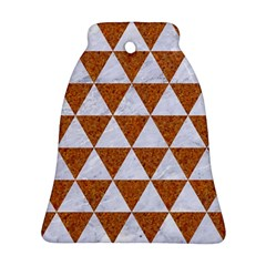 Triangle3 White Marble & Rusted Metal Bell Ornament (two Sides)