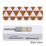 TRIANGLE3 WHITE MARBLE & RUSTED METAL Memory Card Reader (Stick)  Front