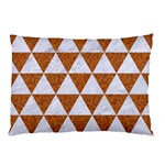 TRIANGLE3 WHITE MARBLE & RUSTED METAL Pillow Case (Two Sides) Back
