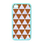 TRIANGLE3 WHITE MARBLE & RUSTED METAL Apple iPhone 4 Case (Color) Front