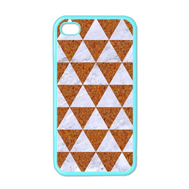 TRIANGLE3 WHITE MARBLE & RUSTED METAL Apple iPhone 4 Case (Color)