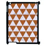 TRIANGLE3 WHITE MARBLE & RUSTED METAL Apple iPad 2 Case (Black) Front