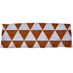 TRIANGLE3 WHITE MARBLE & RUSTED METAL Body Pillow Case (Dakimakura) Body Pillow Case