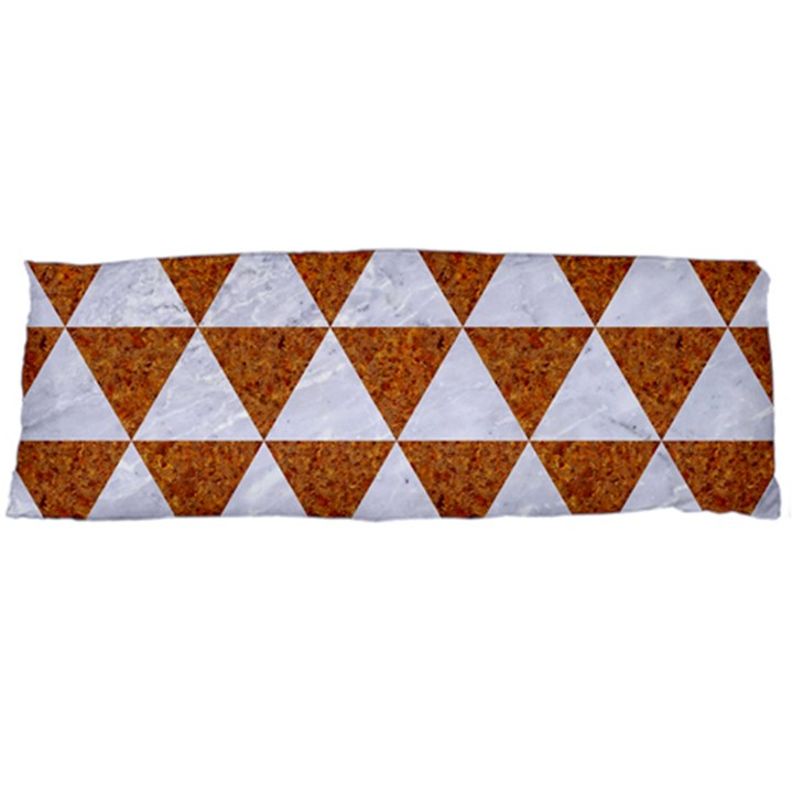 TRIANGLE3 WHITE MARBLE & RUSTED METAL Body Pillow Case (Dakimakura)