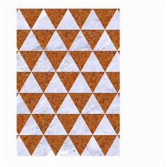 Triangle3 White Marble & Rusted Metal Large Garden Flag (two Sides)