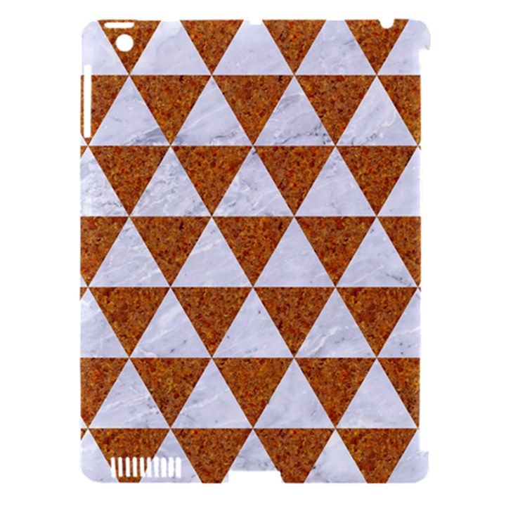 TRIANGLE3 WHITE MARBLE & RUSTED METAL Apple iPad 3/4 Hardshell Case (Compatible with Smart Cover)