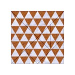 TRIANGLE3 WHITE MARBLE & RUSTED METAL Acrylic Tangram Puzzle (4  x 4 ) Front