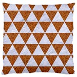 TRIANGLE3 WHITE MARBLE & RUSTED METAL Large Cushion Case (One Side) Front