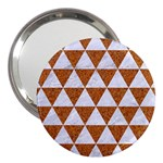 TRIANGLE3 WHITE MARBLE & RUSTED METAL 3  Handbag Mirrors Front