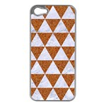 TRIANGLE3 WHITE MARBLE & RUSTED METAL Apple iPhone 5 Case (Silver) Front