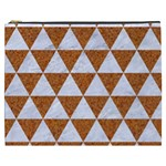 TRIANGLE3 WHITE MARBLE & RUSTED METAL Cosmetic Bag (XXXL)  Front