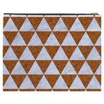 TRIANGLE3 WHITE MARBLE & RUSTED METAL Cosmetic Bag (XXXL)  Back