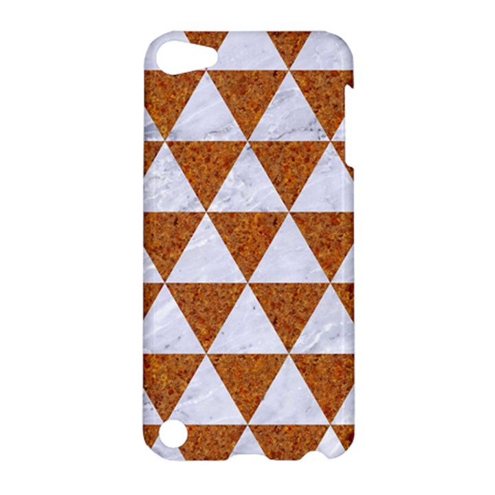 TRIANGLE3 WHITE MARBLE & RUSTED METAL Apple iPod Touch 5 Hardshell Case