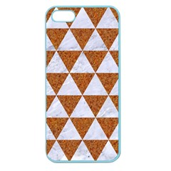 Triangle3 White Marble & Rusted Metal Apple Seamless Iphone 5 Case (color)