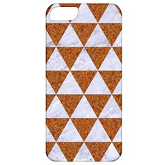 Triangle3 White Marble & Rusted Metal Apple Iphone 5 Classic Hardshell Case